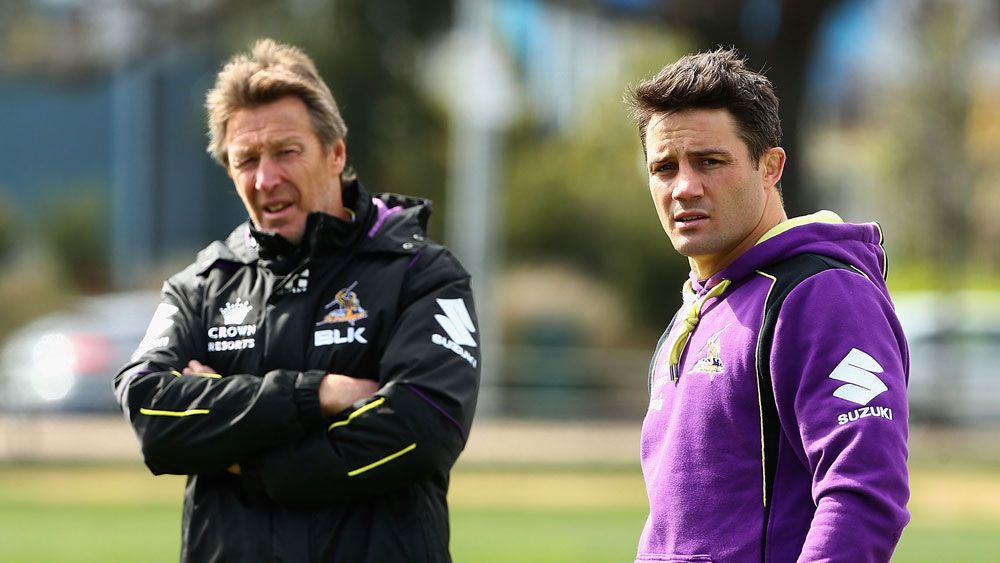 Storm coach Craig Bellamy says he knows nothing about Cooper Cronk retiring early from the NRL. (getty)