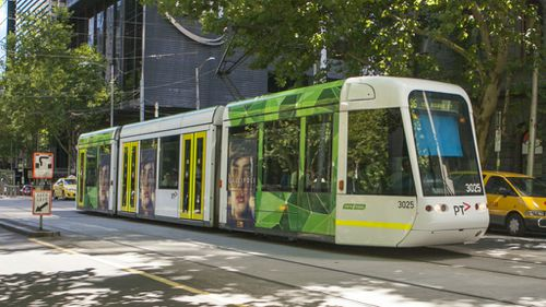 A tram operates in inner Melbourne. (AAP)
