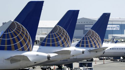 United Airlines planes at Newark Airport in New Jersey.