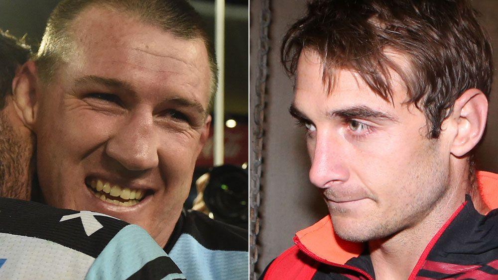 The respective captains: Paul Gallen and Jobe Watson. (AAP)