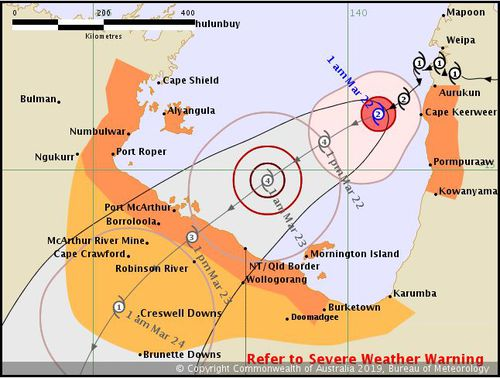 News weather Australia Tropical Cyclone Trevor Queensland Northern Territory