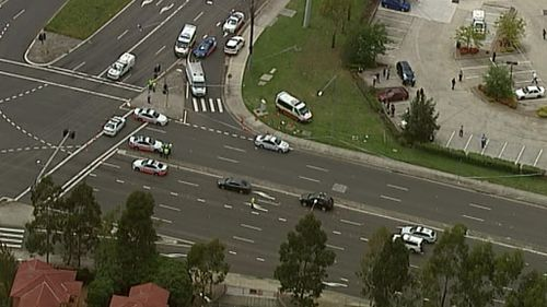 The shooting occurred on the corner of Fifteenth Avenue and Cowpasture Road in West Hoxton. (9NEWS)
