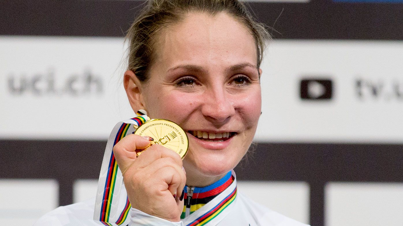 Former cycling world champion Kristina Vogel.