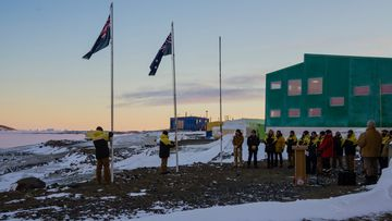 At dawn today on Australia's research stations in east Antarctica, in about minus 15 degrees C, our expeditioners commemorated Anzac Day.
