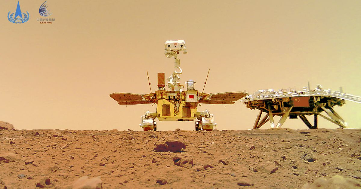 New photos show Chinese rover's exploration of Mars – 9News