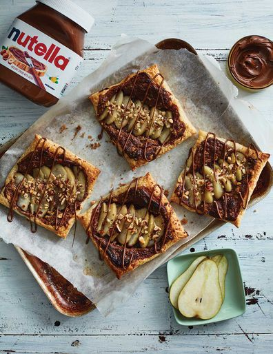 Pear and Nutella tart. Courtesy of Delicious Creations with Nutella