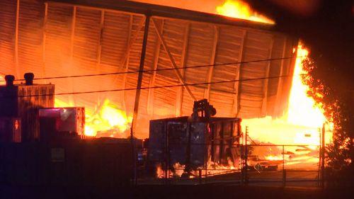 Moorebank factory fire