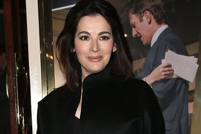 While her <i>Vogue</i> mag was in the shops, Nigella stepped out in March 2014 looking luminous (and definitely not makeup-free!).