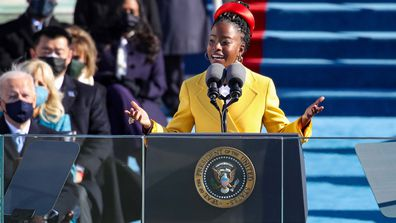Youth Poet Laureate Amanda Gorman speaks at the inauguration of President Joe Biden on the West Front of the US Capitol on January 20, in Washington, DC