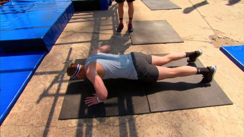 Even before the brutal Ninja course, competitors must face a 23-minute fitness test.(9NEWS)