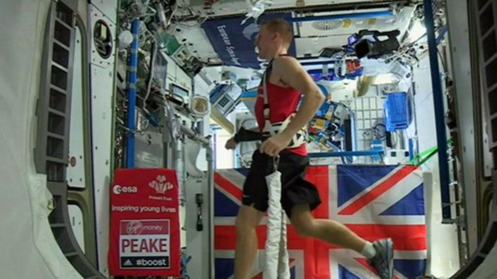 Astronaut runs first space marathon