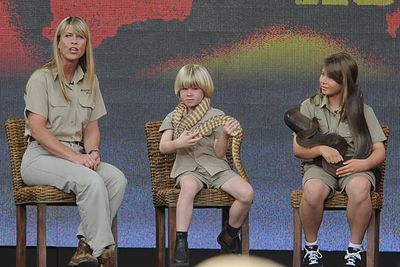 <b>Bindi and Robert Irwin's mum</b><p><br/>After Steve Irwin died tragically in 2006 his daughter Bindi was quick to fill her dad's larger-than-life showbiz shoes with her own TV show, clothing line and commercials. These days her little brother Robert is following a similar trajectory to stardom. Mum Terri insists the kids are just doing what they love, but she's been accused by some critics of cashing in on the cutest Irwins to keep the family business alive.<br/>