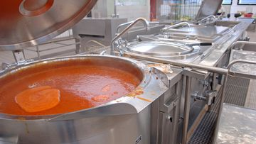The chef fell into a vat of soup in a kitchen while cooking for a wedding (stock image).