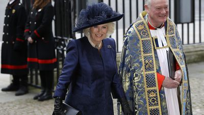 Camilla the Duchess of Cornwall arrives at the Commonwealth Day Service, 2020