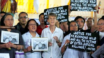 Fox has joined rallies against Duterte and his government, which has been criticized at home and abroad for waging a brutal war on illegal drugs that left thousands of mostly urban poor suspects dead and for stifling dissent. Image: AAP