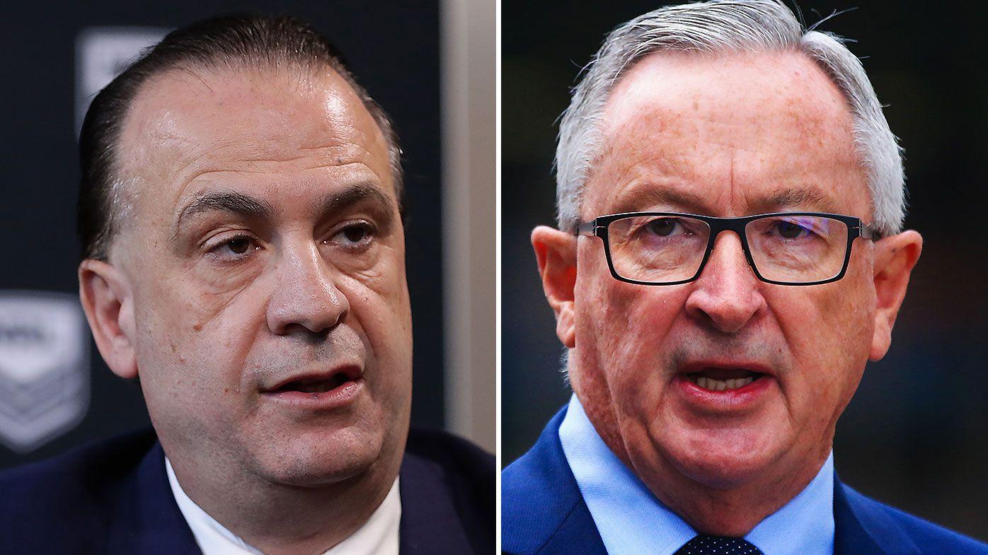 NSW Health Minister Brad Hazzard and Peter V'Landys