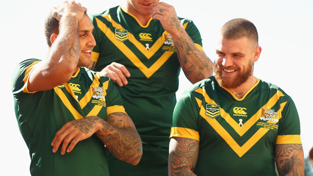 Blake Ferguson (l) and Josh Dugan. (Getty)