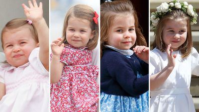 The evolution of Princess Charlotte's royal wave