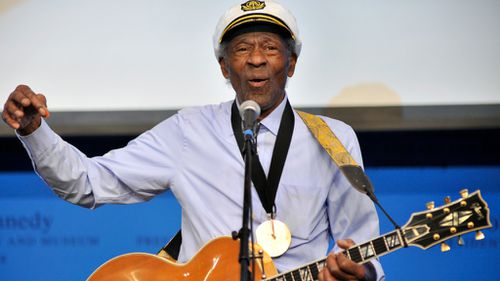 Chuck Berry in 2014. (AAP)
