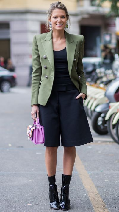The voluminous and ankle-grazing alternative to pants, culottes are chic enough for the office, and practical enough for the weekend. For a streamlined 9-to-5 look, add a heel and a fitted blazer.