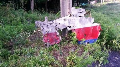 A photo taken by the Financial Times of MH17 debris.