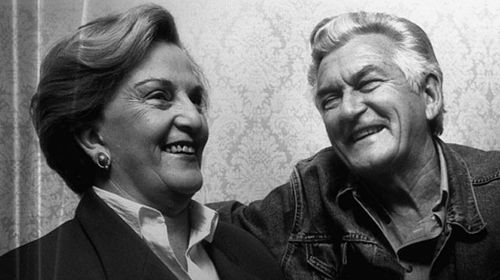 Hazel Hawke with her then husband and former prime minister Bob Hawke. (AAP)