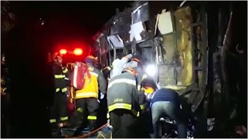 Ten people have been killed with more than 50 injured after a bus crash in Sao Paolo, Brazil.