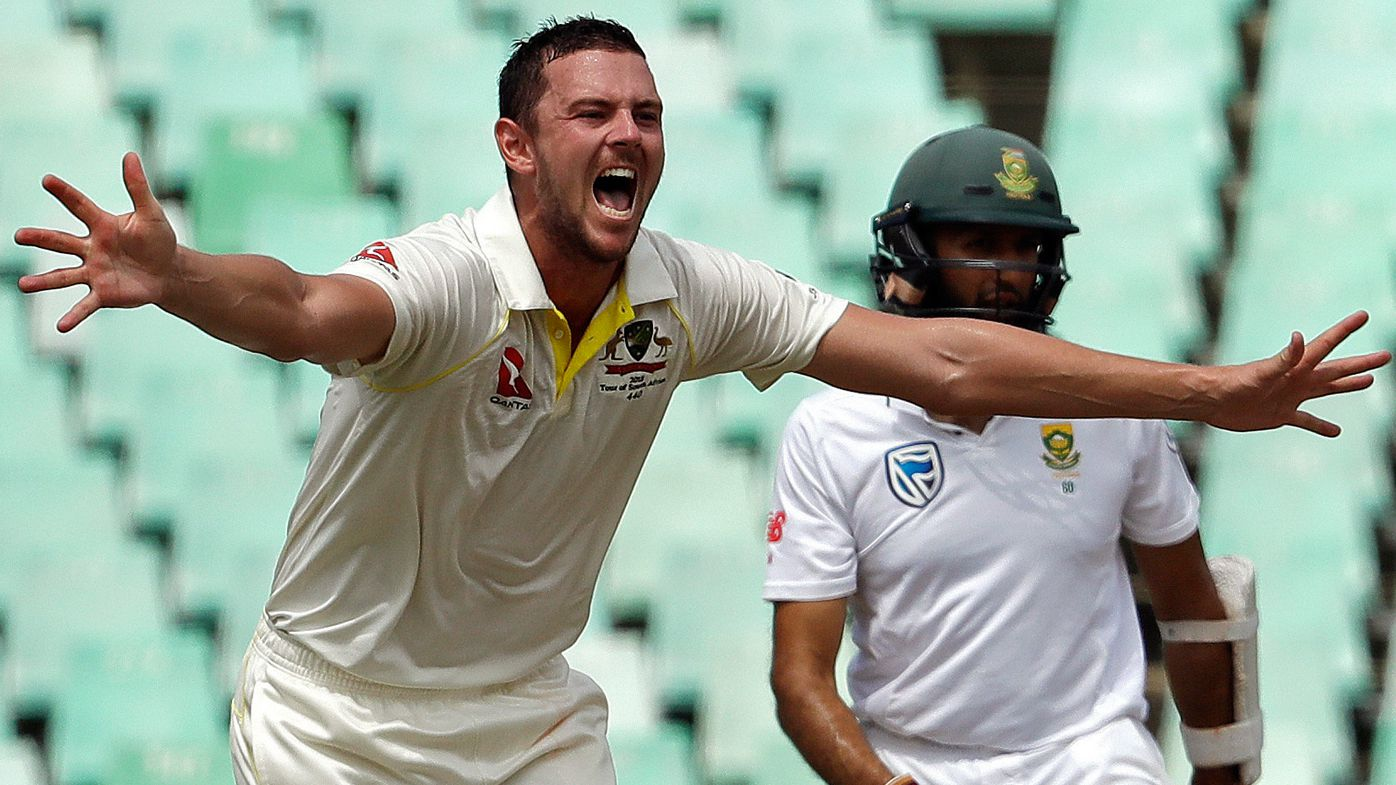 South Africa vs Australia: Josh Hazlewood heaps more misery on bunny Hashim Amla