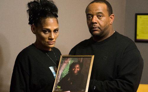 Elizabeth Alvarado and Rob Mickens, parents of gang victim and US school student Nisa Mickens. (Getty).