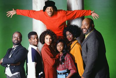 Now, this is a story all about how my life got flipped, turned upside down... <i>The Fresh Prince</i> turned rapper Will Smith into a TV star.<br/><br/>Top: Will Smith (Will). Bottom row: Joseph Marcell (Geoffrey), Alfonso Ribeiro (Carlton), Karyn Parsons (Hilary), Tatyana Ali (Ashley),y Janet Hubert (Vivian Banks) and James Avery (Philip).<br/><br/>Image: Getty