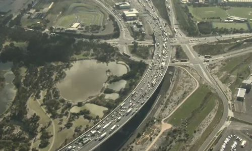 Queues are starting at Burke Road on the Monash Freeway, VicRoads said.
