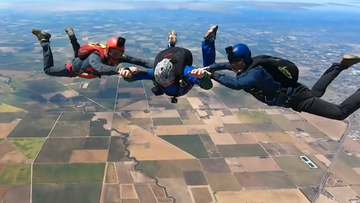 South Australian grandfather's skydiving adventure