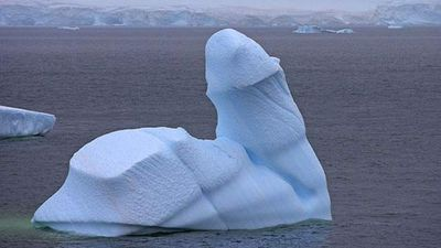 "<p _tmplitem=""9"">Forget shrinkage. </p><p _tmplitem=""9""> In 2008 a phallic iceberg was photographed in Antarctica's Bransfield Strait by Andy Rouse. </p><p _tmplitem=""9""> </p>"