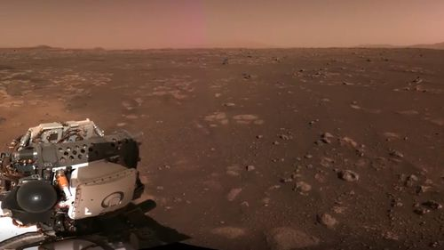 Mars Rover Perseverance has released images from Mars.
