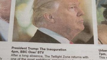 A Scottish TV guide has putt a satirical spin on Donald Trump's forthcoming inauguration. (Twitter via George Takei)