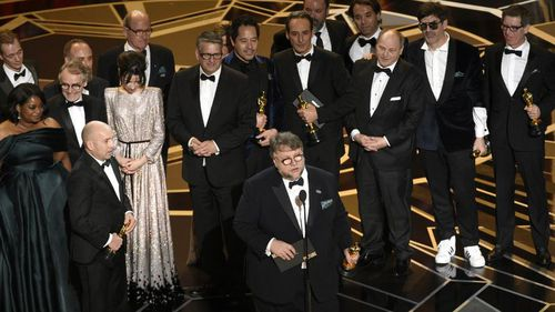 'The Shape Of Water' director Guillermo Del Toro won Best Picture and Best Director at the 2018 Academy Awards. The film won four awards all together (AAP)