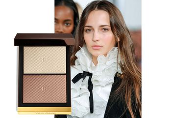 "At Ralph Lauren models' faces were highlighted and contoured with <a href=""http://shop.davidjones.com.au/djs/en/davidjones/skin-illuminating-powder-duo"" target=""_blank"">Tom Ford's Skin Illuminating Powder Duo</a>."