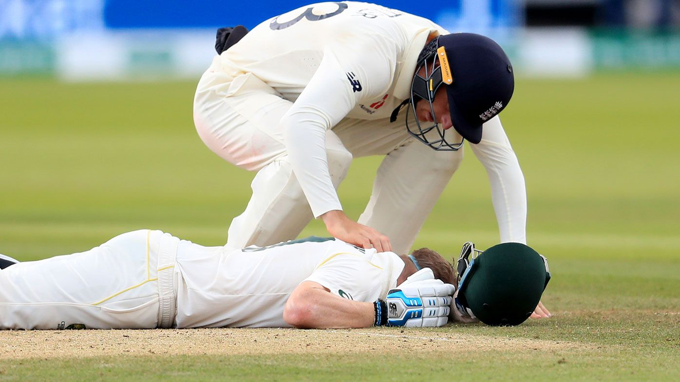 Ashes 2019: Steve Smith scare prompts Travis Head to use neck guard