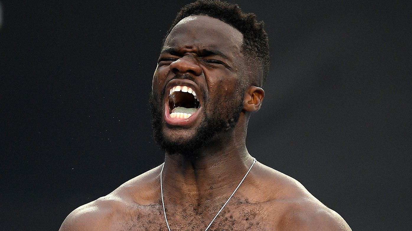 Frances Tiafoe breaks down after stunning Grigor Dimitrov at Australian Open