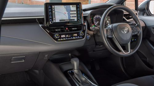 The Corolla also has new interior features.