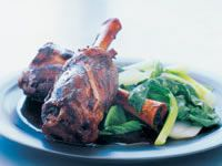 Lamb shanks in five-spice, tamarind and ginger
