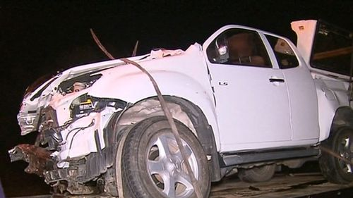 The passenger who was travelling in the ute is in a critical condition. (9NEWS)