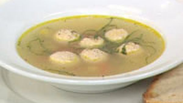 Chicken and meatball soup