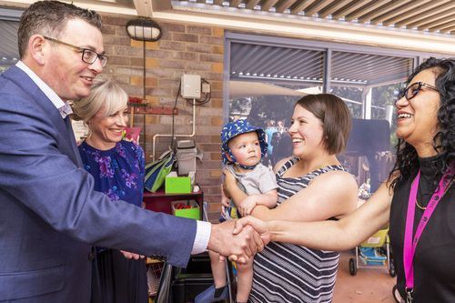 The Premier, and wife Catherine, paid a visit to parents in Noble Park today.
