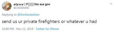 Kim Kardashian, Twitter, tweet, project, Australia, bushfire