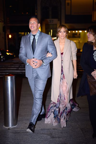 Jennifer Lopez and Alex Rodriguez in New York City for Mother's Day,  May 2017