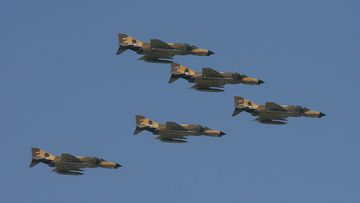 A fighter jet has gone down in Iran's south near the Persian Gulf, with two pilots surviving the crash.