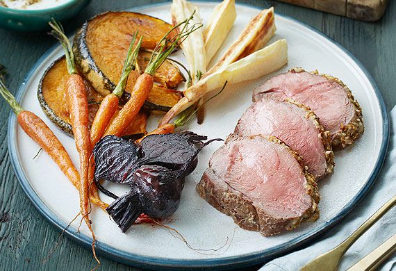 Eamon Sullivan's lamb mini roast with dukkah and roast vegetable salad
