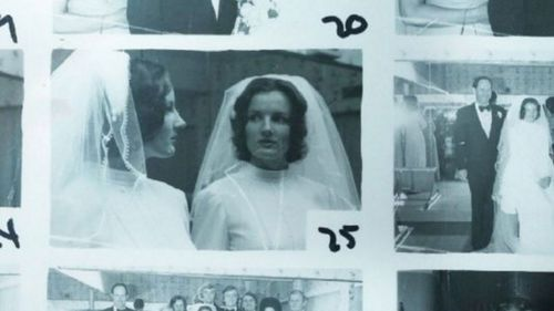 Police archive photos of Maria Smith on her wedding day.