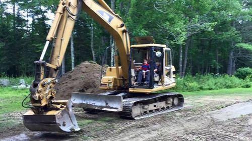 Kellan helped with the path's building. (Kellan's Adventure/Facebook)
